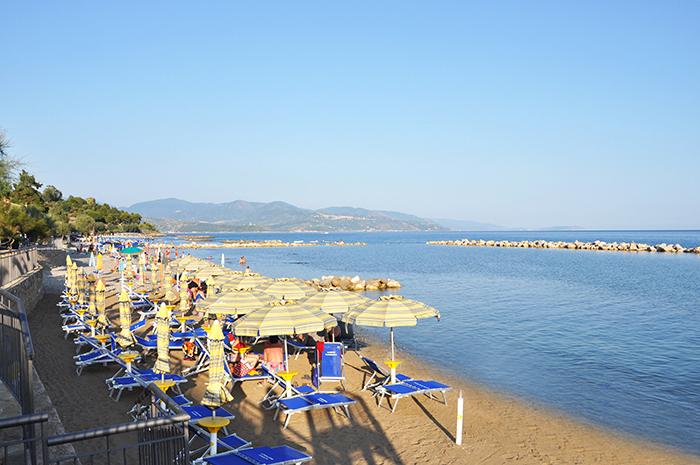 La Spiaggia privata dell' Albergo Margherita Pioppi